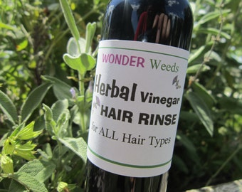 HERBAL Hair Rinse, Great for dandruff, itchy scalp, and oily hair
