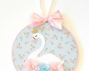 Swan Princess Hoop Art