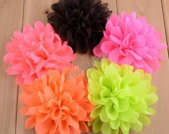 Chiffon Flower, Diy Headband, Wholesale supplies, Boutique supplies 30 color choose H100028