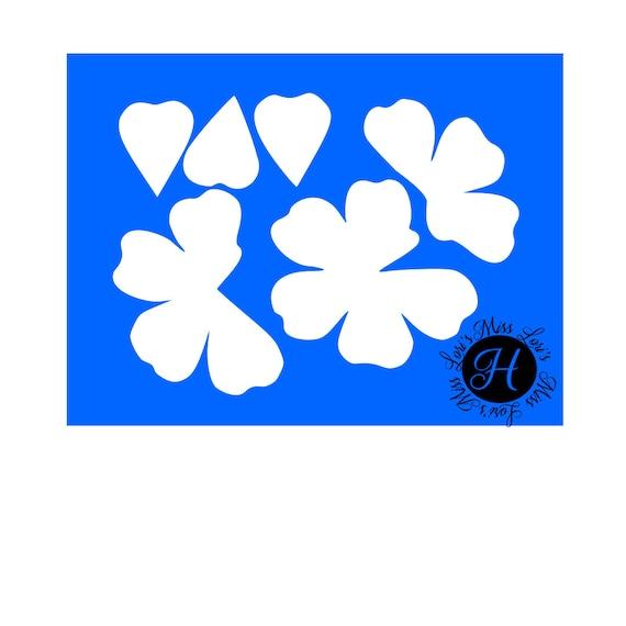 3d Rose Flower template SVG Cut file cricut cameo ROse svg