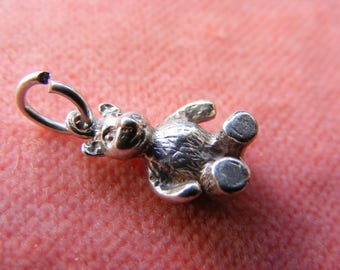 Vintage Sterling Silver Charm Teddy Bear