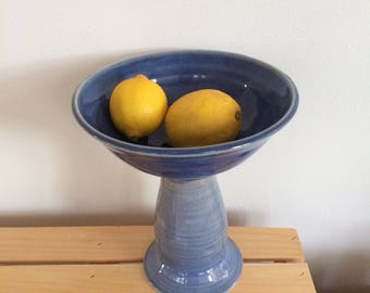 Cake Stand, Serving bowl, Handmade Ceramic Fruit Stand, Fruit Bowl, Raised Bowl, Handthrown Pottery, Handmade,  Ready to Ship, In Stock