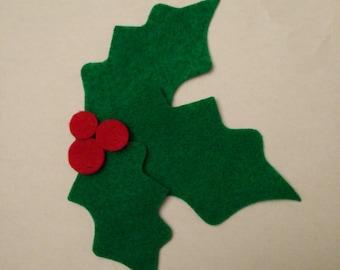 Mistletoe felt ornament - felt board, Christmas activity for toddlers, Kids Christmas gift, felt activity