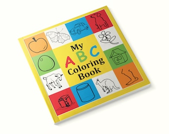 My ABC Coloring Book, Alphabet Coloring Book, Children Books, 47A153993859X