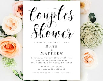 Couples wedding shower invitation etsy couples shower invitation template wedding shower invitation instant download couples shower template wedding shower invites printable filmwisefo Image collections