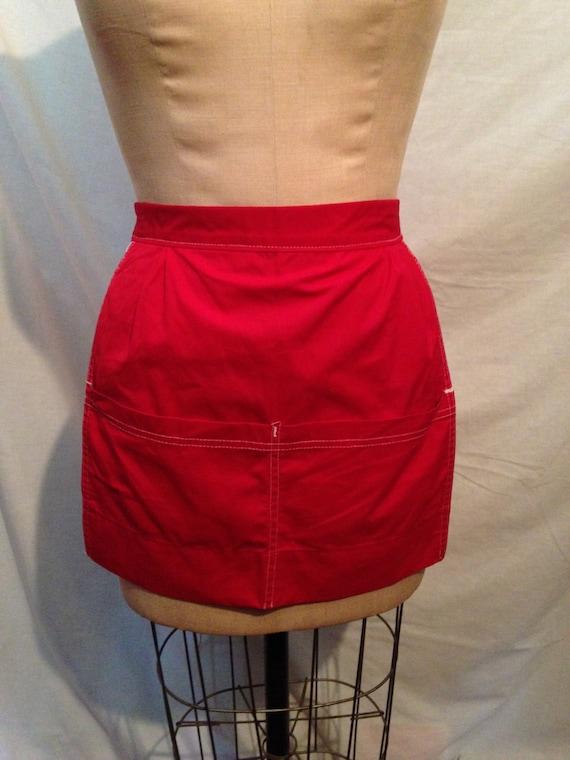 Vintage Red Half Apron