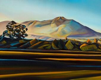 Mount Tamalpais Glow II - giclee print on paper or canvas