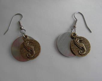 Golden Seahorse Earrings