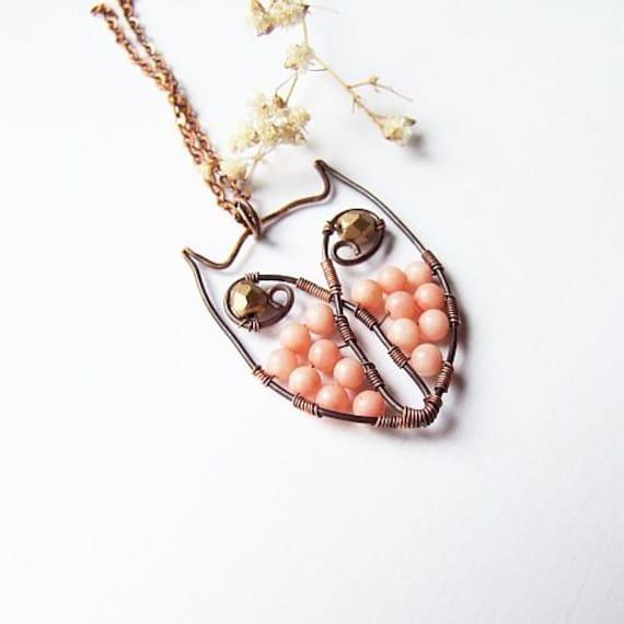 Wire Owl Tutorial Owl Necklace Jewelry Tutorial Wire