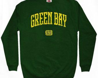 Green Bay 920 Sweatshirt - Men S M L XL 2x 3x - Wisconsin Crewneck - 4 Colors