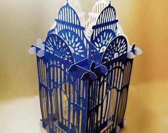 Folding birdcage box card or lantern style 1