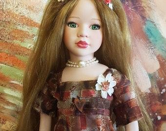 OOAK  Porcelain Doll Rebecka Customized By Michele Roy