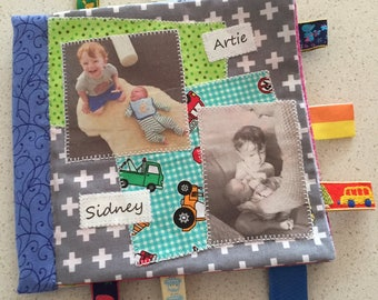 SCRAPBOOK - Cute soft cloth photo album with lots of photos