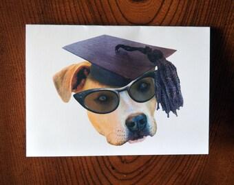 Graduate Dog Printable Graduation Card