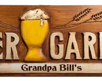 Beer Garden Personalized Sign