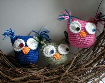 PATTERN:  Owl tooth pillow, Easy Crochet P D F, stuffed owl, amirugumi, pocket, gift holder, InStAnT DoWnLoAd, Permission to Sell