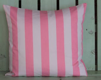 New 18x18 white,pink striped premier prints pillow cover-accent pillow- decorative pillow cover-gifts under 40-throw pillow