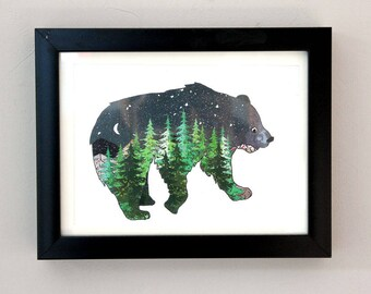 Forest Bear Animal Art Print