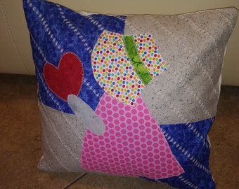 Sunbonnet Sue cushion cover