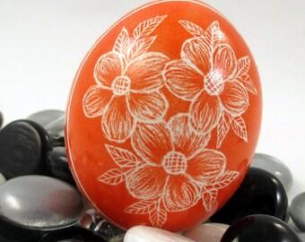 Pysanky, Pisanki, Ukrainian Egg, Polish Easter Egg, Skrobanki, Easter Egg, Ukrainian Easter Egg, Scratched Egg, Pysanky Egg, Orange Floral