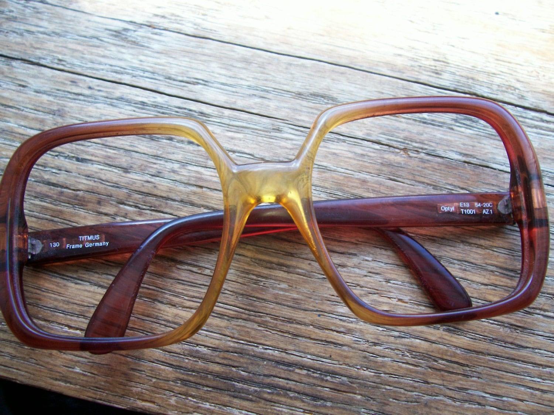 Vintage 70\'s Titmus Frame Germany Prescription Glasses