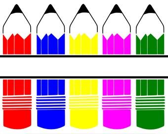 Colour Pencils SVG File for the Cricut