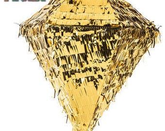 Gold Foil Diamond Wedding Piñata 12X12X14 inches