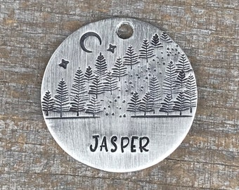 Dog Tag, Dog Tags for Dogs, Dog Tags, The Path, Pet ID Tag, Trees Dog Tag, Personalized Dog Tag, Custom Dog Tags