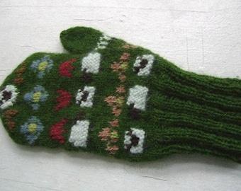 Pastoral mitten pattern