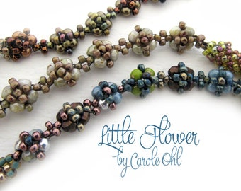 Little Flower Chain Beadweaving Tutorial by Carole Ohl