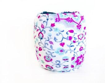Spring Yarn Bowl- Flower Yarn Bowl- Pink Yarn Holder- Yarn Organizer- Spring Yarn Cozy- Crochet Accessories- Yarn Holder- Skein Coats