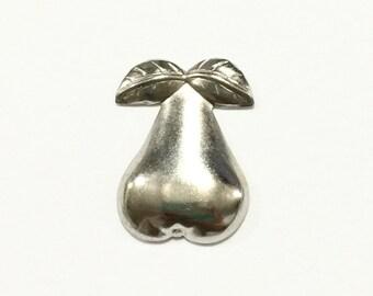 Metal Pear Embellishment (12 pcs)