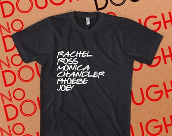 Friends - Original Font - BLACK T-Shirt 90s 2000s TV