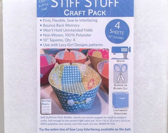 Lazy Girl Stiff Stuff 10in Squares Craft Pack