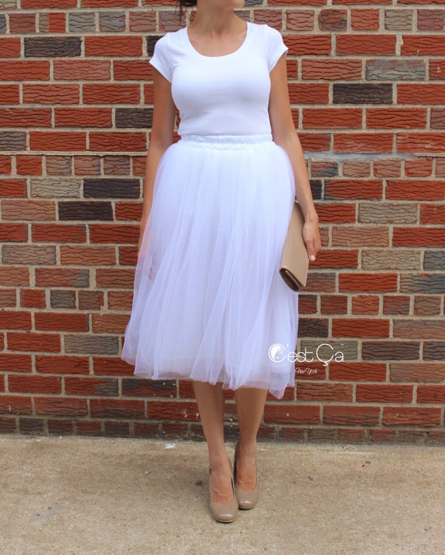Claire weißem Tüllrock Braut Tüll Rock weichen Tüllrock