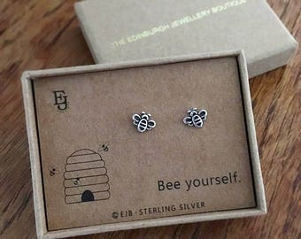 Bee Yourself Sterling Silver Studs