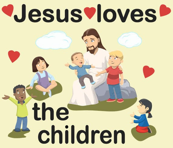 Kids Wall Decals Church Wall Decor Jesus and the Children