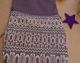 Mauve ethnic backpack