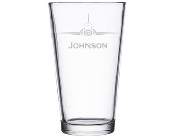 T-38 Laser Etched Glassware, Personalized Gift