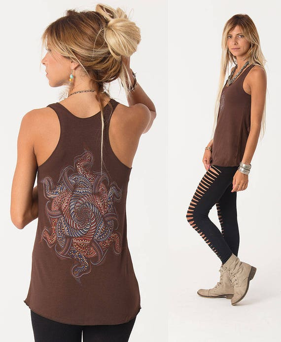 Womens Tank Top Mandala Top Festival Clothing Yoga Tops