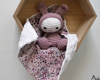 old pink and white crochet toy amigurumi