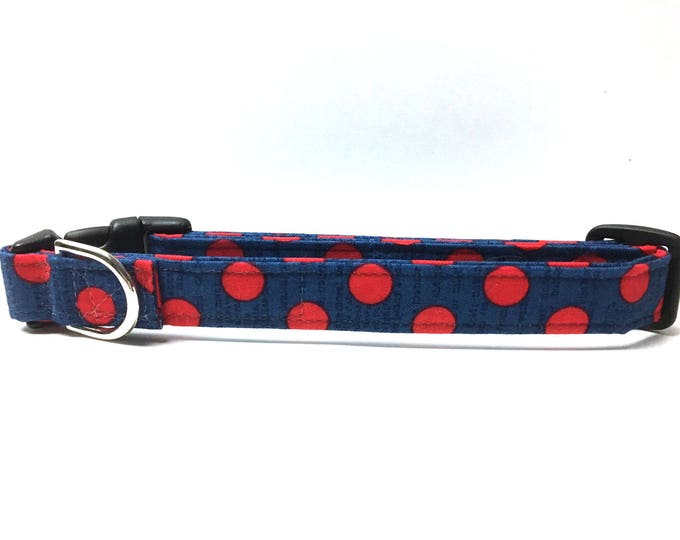 Featured listing image: Naked Dog Collar- The Patriotic Polka Dot