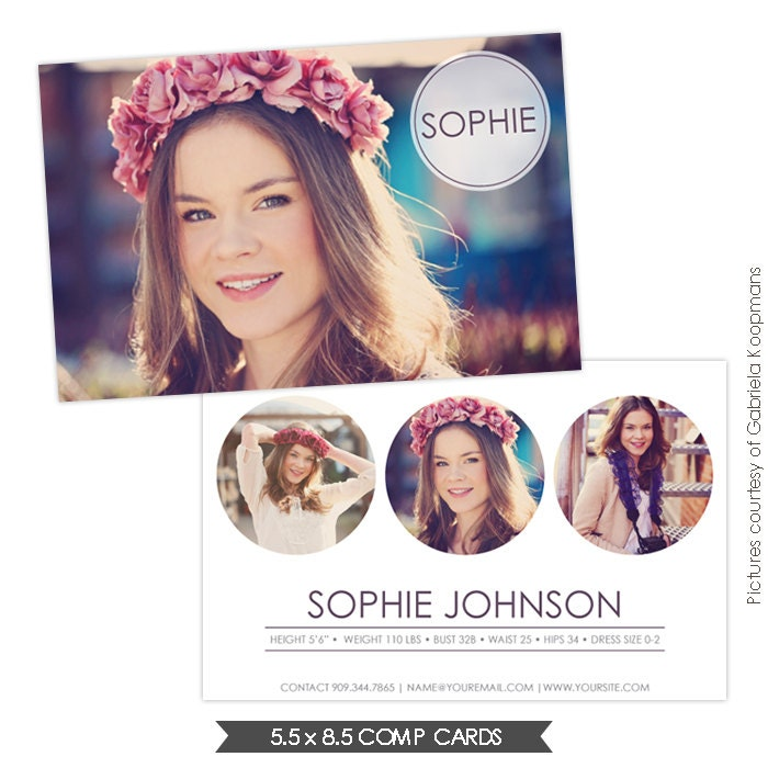INSTANT DOWNLOAD Modeling Comp Card Photoshop Templates - Card template free: model comp card template
