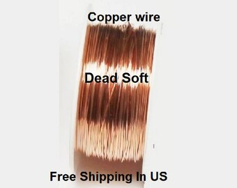 5 Oz Round Solid Copper Wire ( Dead Soft ) On Spool - 99.9% Pure Copper ( Gauges - 12 - 14 - 16 - 18 - 20 - 22 - 24 - 26 - 28 - 30 )