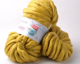 Size XXL BIG PHIL'COTON PHILDAR mustard color wool
