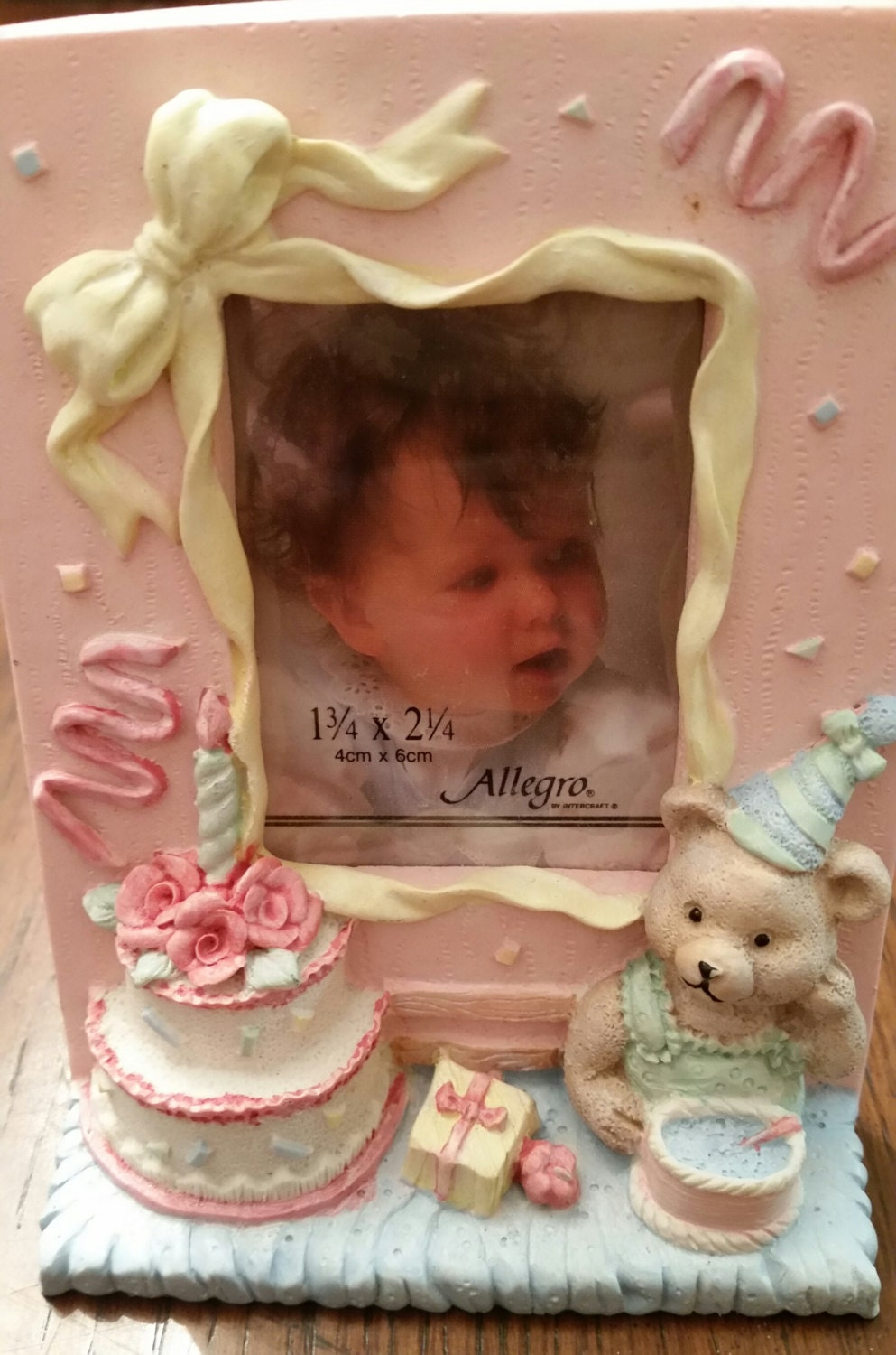 Vintage 1st Birthday Picture Frame Baby Girl Baby Boy Picture