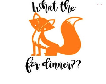 Instant pot decal, what the fox for dinner, cooking Decal, fox decal,kitchen decal, instapot,what the fox , kitchen decor, crock pot decal