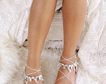Dressy flat sandals for wedding sale jewel badgley mischka nude sandal etsy silver flat sandals gladiator sandal nude leather sandal silver shoesde wedding choice junglespirit Images