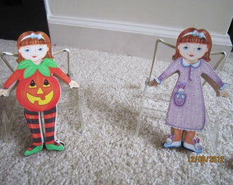Lillian Vernon Wooden Dress-up Dolls and Clothing