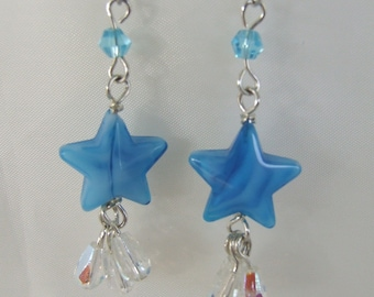 Handmade Stars and Dewdrops Earrings